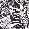A Black and White dress print Ann Froomberg Textile Design